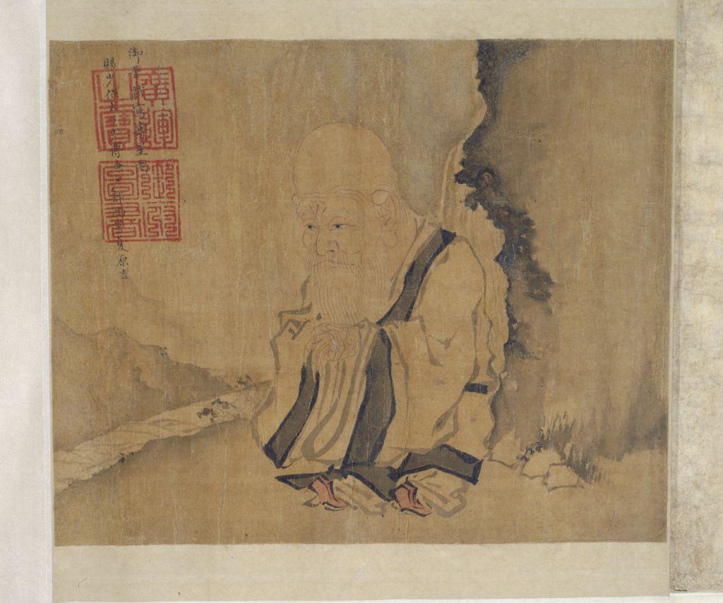 朱瞻基画《寿星图》卷